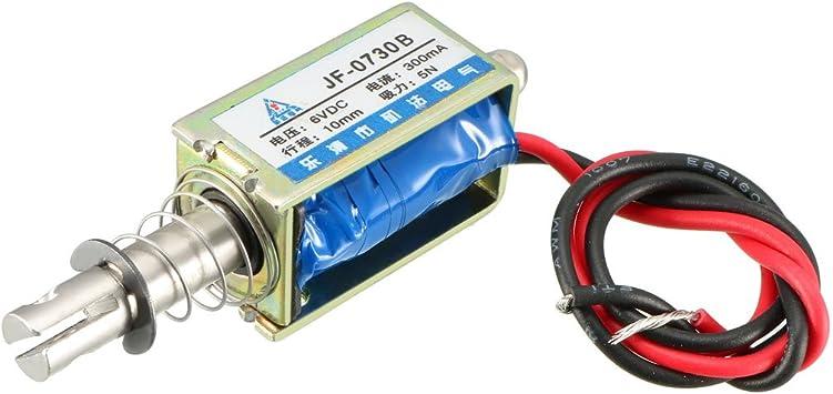 JF-0730B 12VDC 300mA 10mm 5N  Open Frame Solenoid Electromagnet Push//Pull type