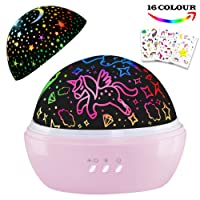 Night Light for Kids,Unicorn Night Light&Star Projector Gifts for Kids Toddlers,...