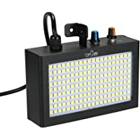 Tomshine 180 LEDs Strobe Flash Light Lamp Portable Auto Running Sound Control Activated Speed Adjustable for Stage Disco DJ Show Home Party Ktv Wedding Functions …