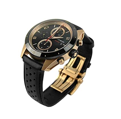 Amazon.com: MONTBLANC Fantastic 18K Gold DLC TIMEWALKER Chronograph Watch 117051 Leather: Watches