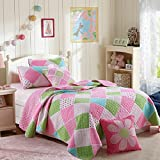 Best Comforbed Comforter Sets - Stitching Polka Dot Floral Patchwork Bed spread Quilts Review