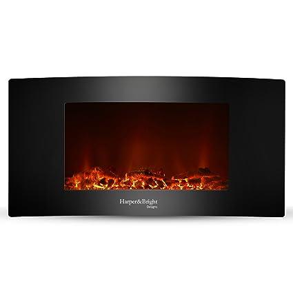 amazon com harper bright designs 35 fireplace heater wall rh amazon com wall mounted electric fireplace heater reviews wall mount electric fireplace heaters 40