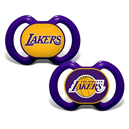 859325d47dbe Baby Fanatic NBA Los Angeles Lakers Unisex LAL212Gen. 3000 Pacifier 2-Pack  - Los