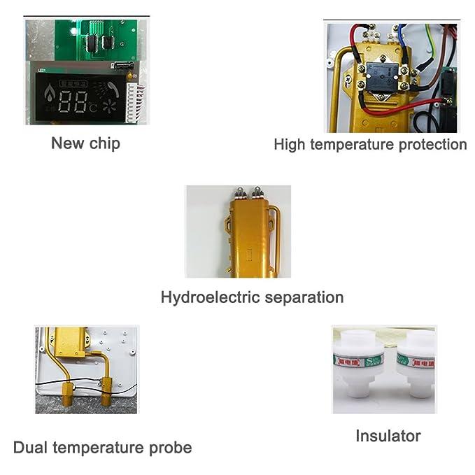 Calentadores de agua eléctricos de la temperatura constante constante del cuarto de baño del calentador de agua instantáneo electrónico 8.5kW Calentadores ...