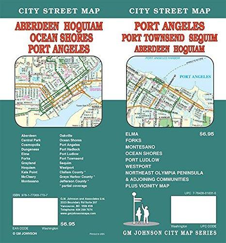 Port Angeles / Aberdeen / Port Townsend, Washington Street Map
