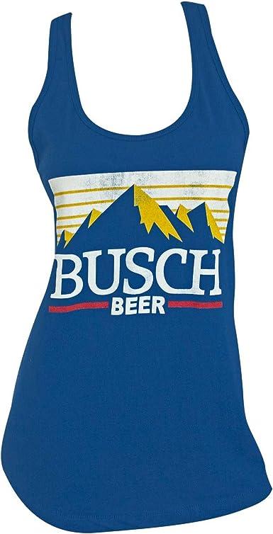 Busch Beer Logo Racerback Women/'s Tank Top Shirt Blue