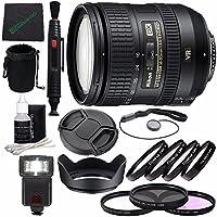Nikon AF-S DX NIKKOR 16-85mm f/3.5-5.6G ED VR Lens + 72mm 3 Piece Filter Set (UV, CPL, FL) + 72mm +1 +2 +4 +10 Close-Up Macro Filter Set with Pouch + Lens Cap + Lens Hood + Lens Cleaning Pen Bundle