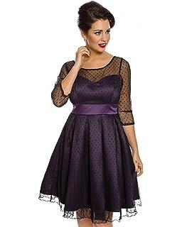 0d1668f3eea4 Lindy Bop Women's Polka dot Short Sleeve Dress Red red - Blue - 10 ...