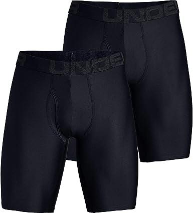 ocio riqueza Ten cuidado  Amazon.com: Under Armour Tech 9in Underwear - 2-Pack - Men's Black/Black,  XL: Clothing