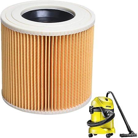 LZH FILTER Filtro de Cartucho para Aspiradoras en seco y en húmedo Karcher Pack de 2 filtros (WD2.250 WD3.200 WD3.300): Amazon.es: Hogar