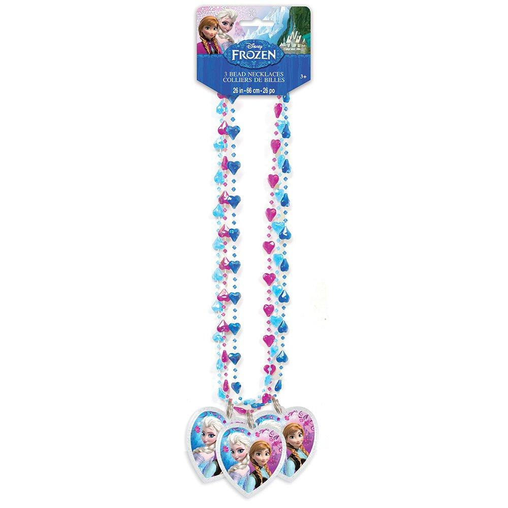Amazon.com: Disney Frozen Bead Necklace Party Favors, 3ct: Toys ...