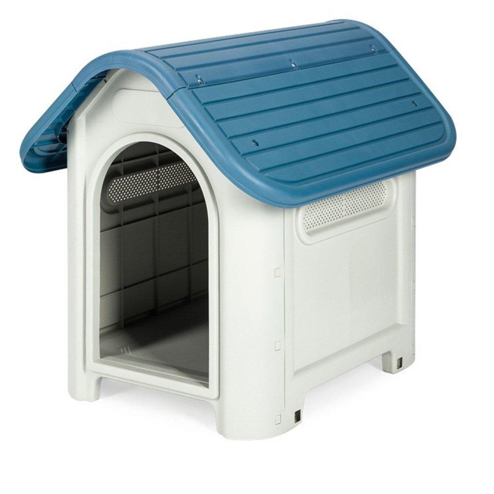bluee S bluee S WOWOWMEOW Dog Plastic House (S, bluee)
