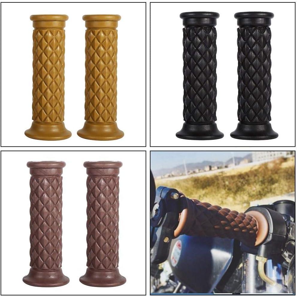 Hlyjoon 1 Pair Motorcycle Rubber Handle Grips Universal 7//8inch 22mm Moto Standard Handlebar End Grip Non Slip Strip Motorbike Thruster Grip Bar for Motorcycle Dirt Bike Yellow