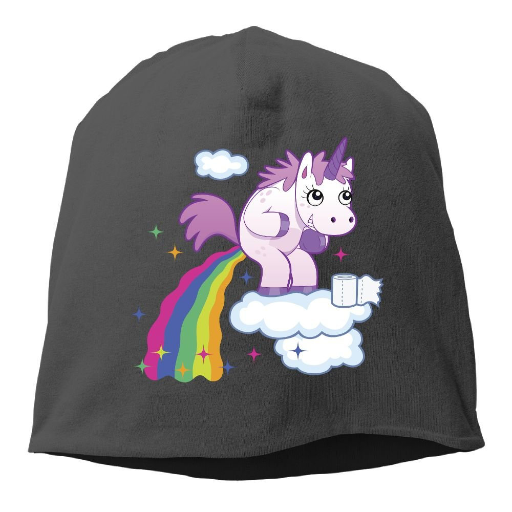 Headscarf Unicorn Poop Rainbow Colorful Poop Hip-Hop Knitted Hat for Mens Womens Fashion Beanie Cap