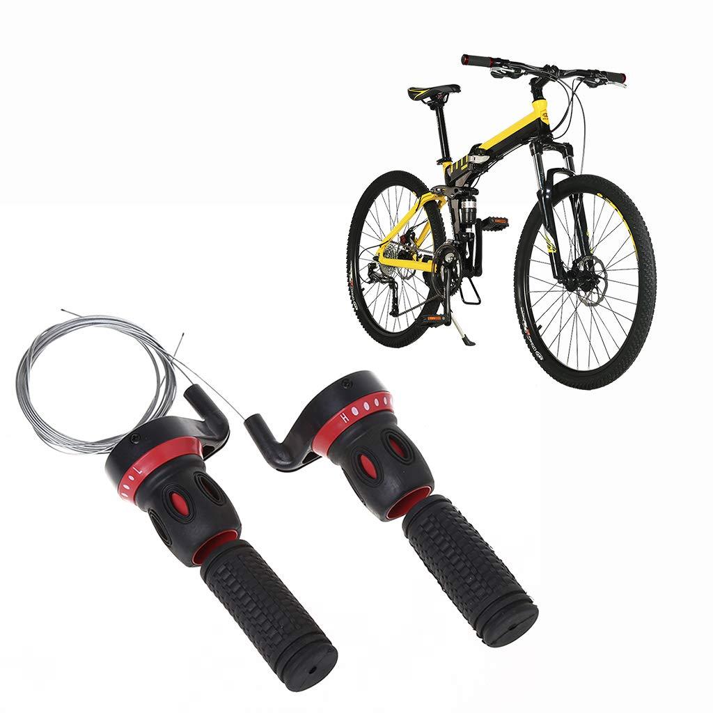 fast-shop Pair Of Aluminium Bicycle Handlebar Grips Bar End Plug Caps Durable and Practical