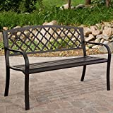 Coral Coast Crossweave Curved Back 4-ft. Garden Bench