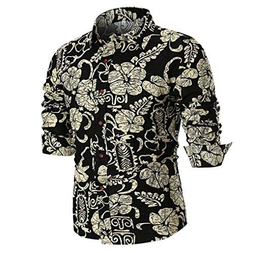 Slim Casual Longues Imprimées Chemises Mr T Automne 3 shirt Manches Été Homme Chemisier YqRpwtxIq4