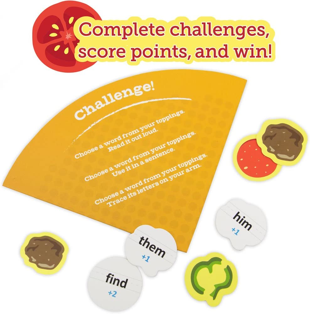 Pint-Size Scholars Sight Words Pizza Board Game