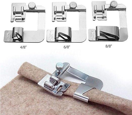 Máquina de coser doméstica de 13-25 cm Juego de pies de dobladillo ...