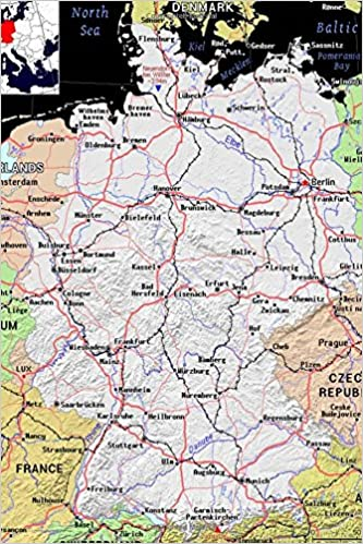 Map Of Germany To Color.Modern Day Color Map Of Germany Journal Take Notes Write Down