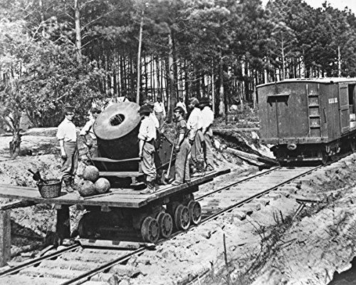 Civil War Cannon Pictures - New 5x7 Civil War Photo: Federal Soldiers with Cannon on Railroad Car