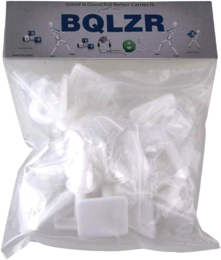 BQLZR rectangular con forma de Color blanco asiento para inodoro bisagras tornillos tornillo tuercas herramientas de reparaci/ón paquete de 2