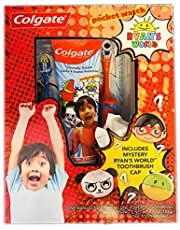 Ryan's World Kids Toothbrush Kit! Includes Manual Toothbrush, Powered Toothbrush, Toothpaste and Toothbrush Cap! Helps Strengthen Tooth Enamel And Fight Cavities! Choose Your Kit!