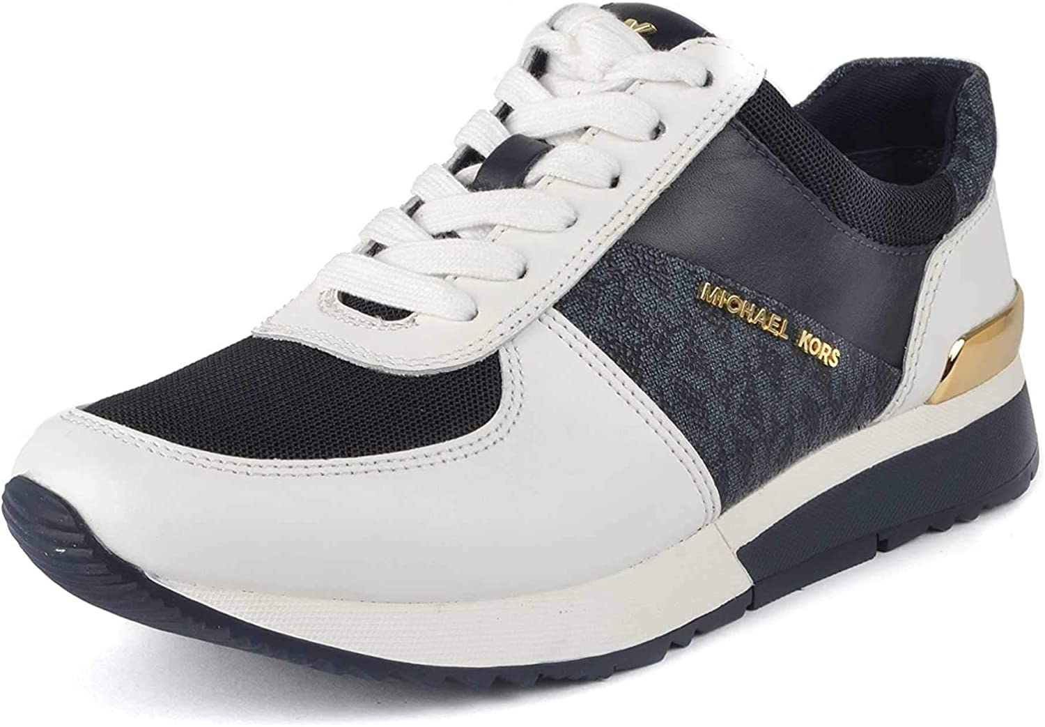 MICHAEL by Michael Kors Allie Optic White and Admiral Trainer