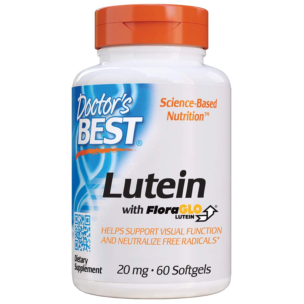 Doctor's Best Lutein with FloraGLO, Gluten Free, Vision Support, 60 Softgels by Doctor's Best