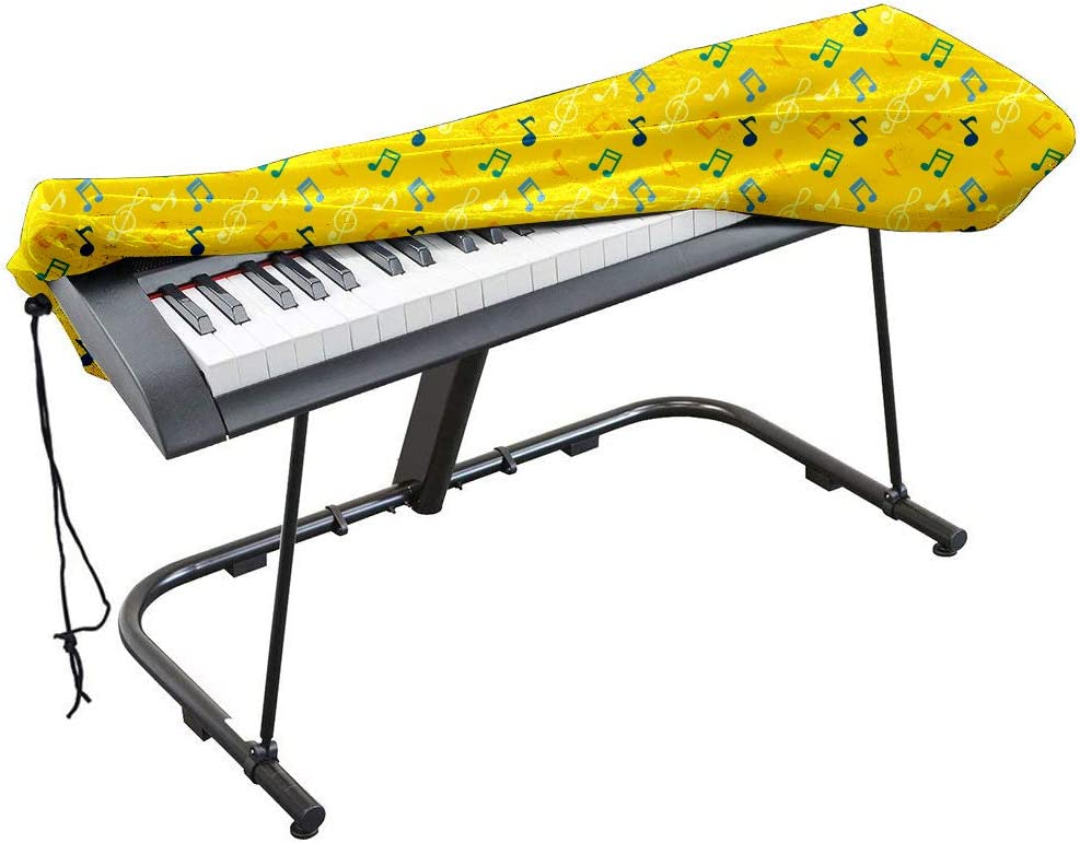 Funda universal antipolvo con cordón y cierre para teclado de piano electrónico de 61/88 teclas