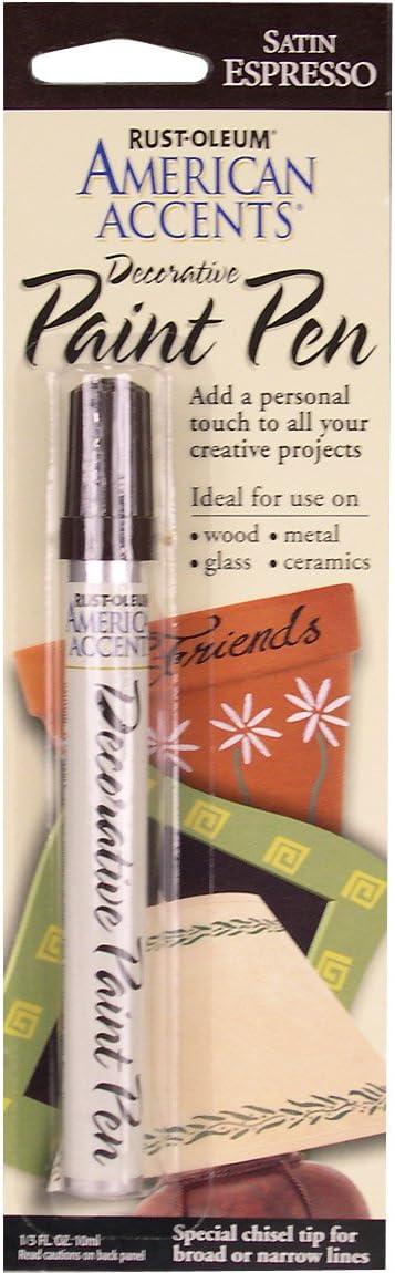 Rust-Oleum 222644 American Accents Satin Decorative Paint Pen, Espresso, 1/3-Ounce