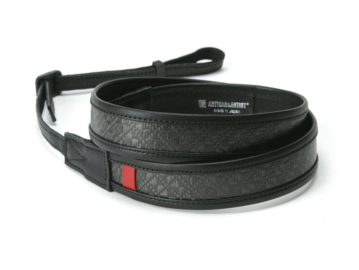 [アルティザン&アーティスト] カメラストラップ<カーボンファイバーストラップ 西陣織り> ACAM-601 ブラック   B079BL7H4L