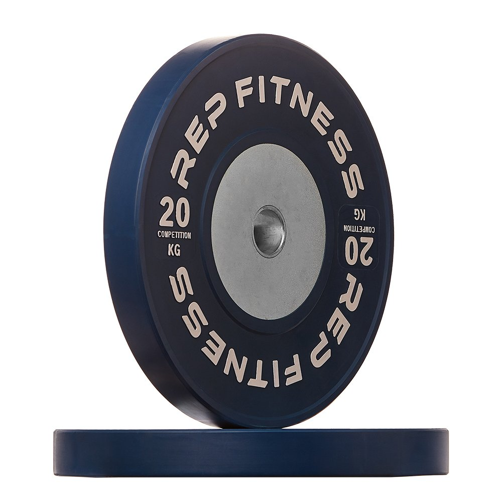 Rep kg Competition Bumper Plates for Olympic Weightlifting, 20kg Pair