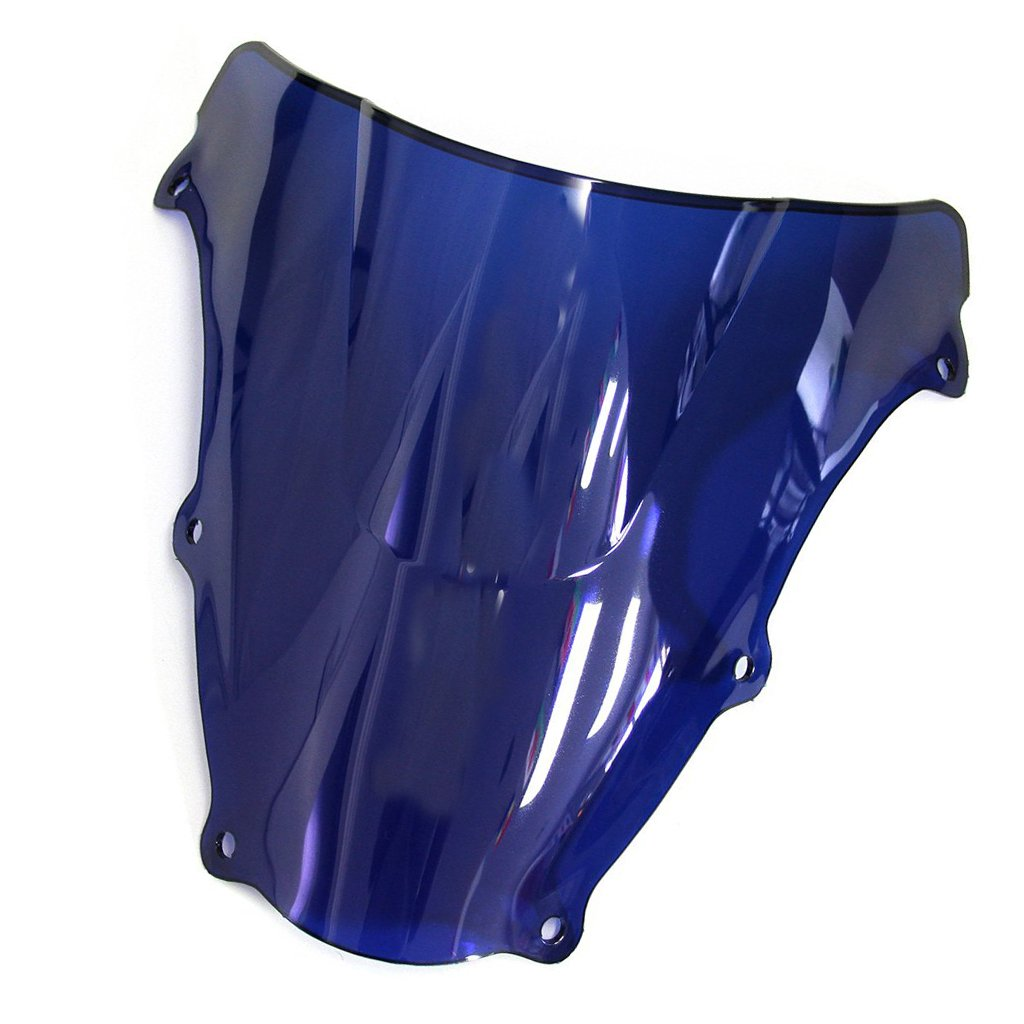 Blue Windshield WindScreen Double Bubble For SV650//SV650S 2003-2012 SV1000//SV1000S 2003-2008