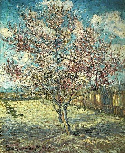 Vincent Van Goghピンクピーチツリーin Blossom (回想の藤色) 23.43x28.74の商品画像