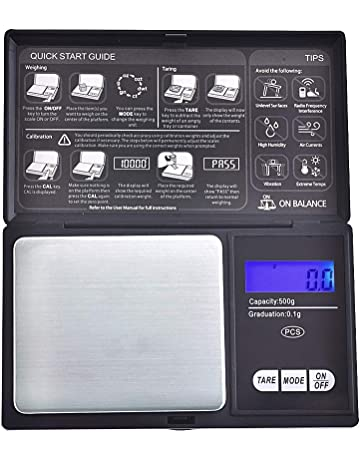 Quantum Abacus Báscula digital de precisión/balanza para correo/joyería, 500gr / 0