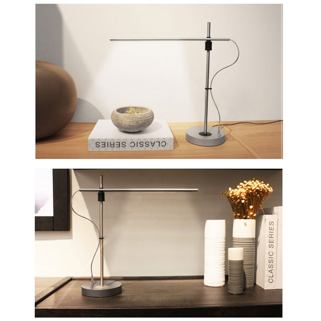 Lámpara de Mesa GYDD Creativa Creativa Creativa Moderna Minimalista Plug Eye Students Study Desk Home Work Office Lighting (Color : Blanco) 8a517b