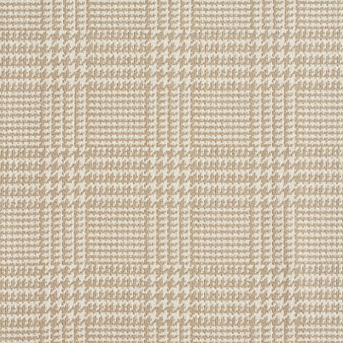 A942 Beige Houndstooth Woven Jacquard Upholstery Fabric By The Yard Houndstooth Upholstery Fabric