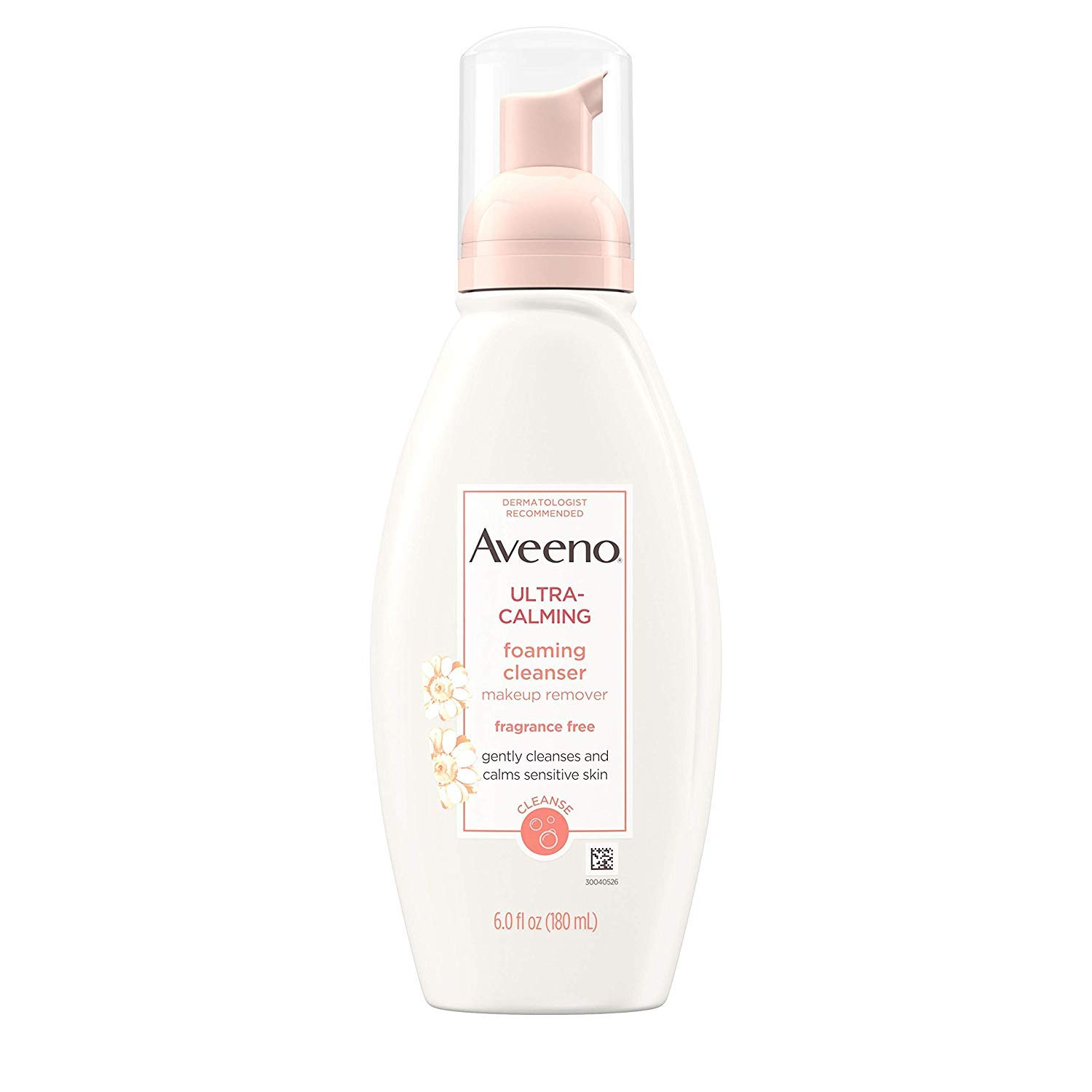 Aveeno Ultra-Calming Fragrance-Free Foaming Cleanser 6 Fluid Ounces (Pack of 2)