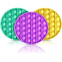 3PCS Push pop pop Bubble Sensory Fidget Toy, Squeeze Sensory Toy ,Silicone Stress Reliever Toy,Autism Special Needs…