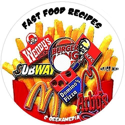 500 Fast Food Favorite Recipes on CD famous top secret cooking restaurant easy by GeekaMedia