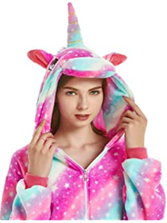 3819ec8ed12 XXLpjs Adult Onesies for Women Men Unicorn One Piece Pajamas Halloween  Costumes