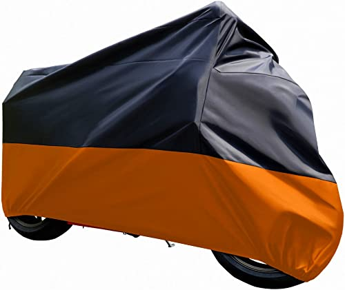 Tokept Black And Orange Sun Motorcycle Cover