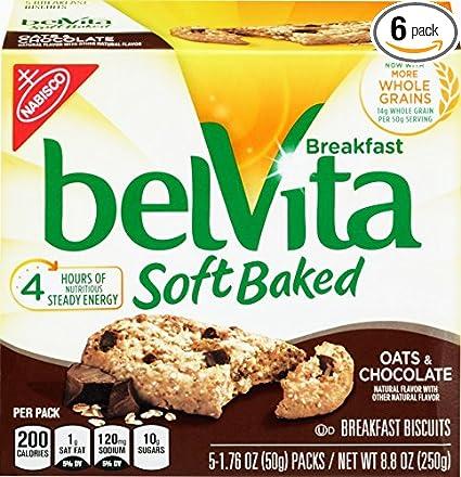 Belvita Soft Baked Desayuno Galletas, Avena, & Chocolate, 8 ...