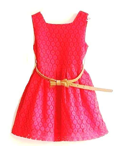115bea5d5 Baby girl Lace party wear Frock (WITH BELT) (5-6 Years)  Amazon.in ...
