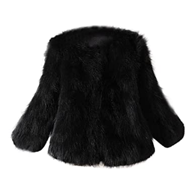2b0f6065d0d HOMEBABY Women Fluffy Faux Fur Coat