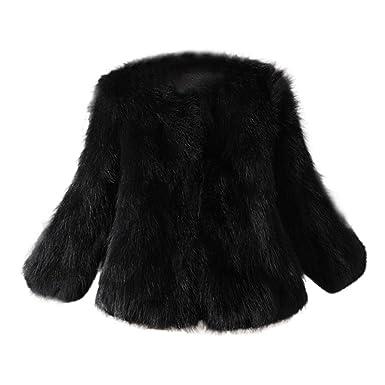 6a1742c7910 HOMEBABY Women Fluffy Faux Fur Coat