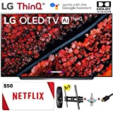 "LG Electronics OLED65C9PUA C9 Series 65"" 4K Ultra HD Smart OLED TV (2019) w/$50 Netflix Gift Card w/3 in 1 Wall Mount kit- Wall Mount, HDMI Cable, TV Cleaning Kit - LG Authorized Dealer"
