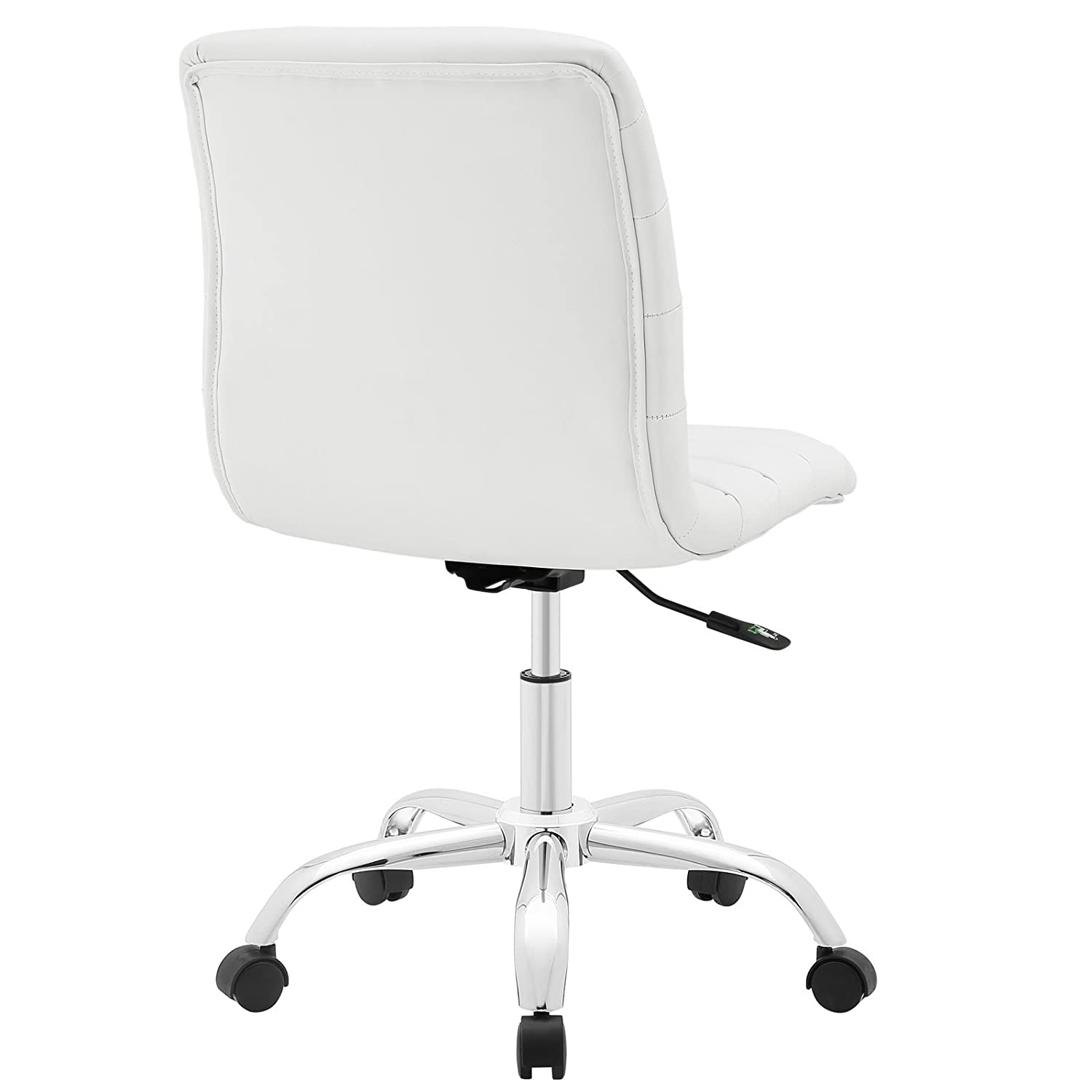 Amazon com modway ripple mid back office chair white kitchen dining