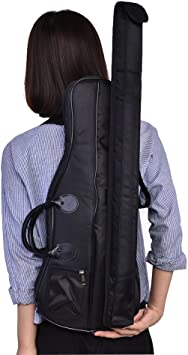 Tbest Estuche para violín Bolsa Mochila con Correa de Transporte Bolso de Hombro para violín / Viola Oxford Estuche Blando Bolso de Almacenamiento de violín Accesorios, 63 x 25 x 5 cm: